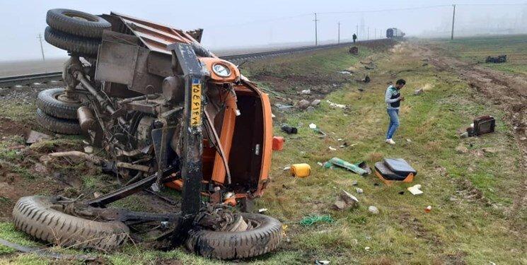 قطار رشت باز هم تصادف کرد ، یک کشته و دو مجروح